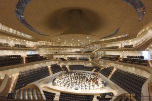 Hamburg: Baustelle Elbphilharmonie. Probe, Probenpremiere in Grossen Saal , NDR Elbphilharmonie - Orchester